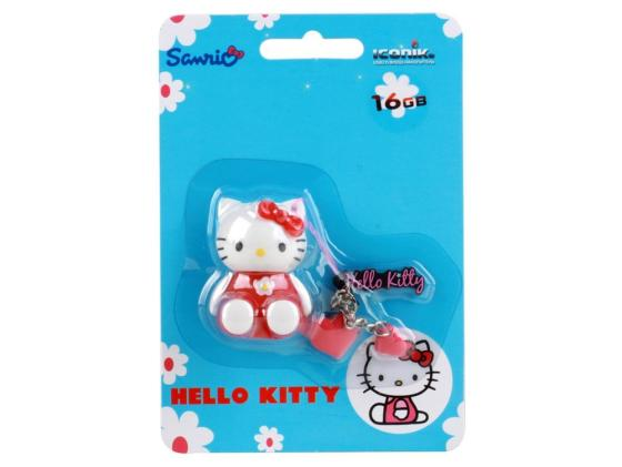 Флешка USB 16Gb ICONIK HELLO KITTY RB-HKP-16GB красный usb flash drive 16gb iconik снеговик rb sm1 16gb