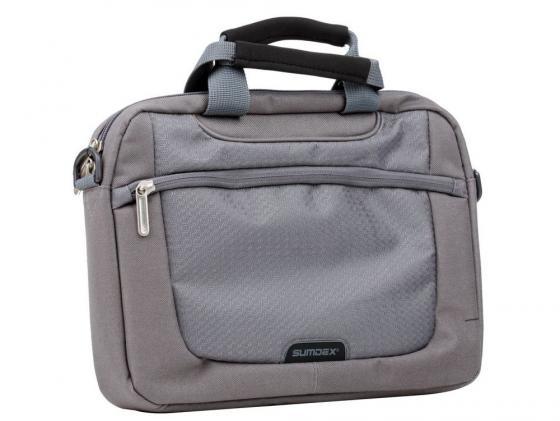 Сумка для ноутбука 10 Sumdex PON-308GP Netbook Case полиэстер графитовый сумка для ноутбука sumdex case pon 302bk 15нейлон чёрный pon 302bk