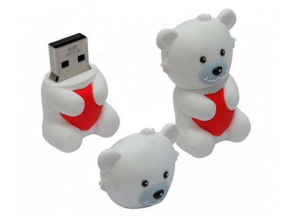Флешка USB 16Gb ICONIK Мишка Белый УМКА RB-BEARW-16GB usb flash drive 16gb iconik снеговик rb sm1 16gb