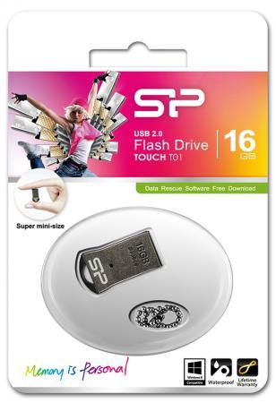 Флешка USB 16Gb Silicon Power T01 SP016GBUF2T01V1K черный