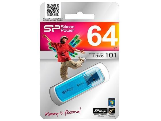 Флешка USB 64GB Silicon Power Helios 101 SP064GBUF2101V1B синий цена и фото
