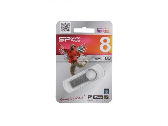 Фото - Флешка USB 8Gb Silicon Power Firma F80 SP008GBUF2F80V1S флешка 8gb silicon power sp008gbuf3x31v1k usb 3 0 microusb черный
