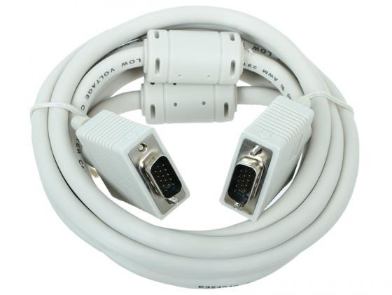 Кабель VGA 3.0м Gembird Premium тройн.экран феррит. кольца CC-PPVGA-10 пакет кабель vga premium gembird 1 8м 15m 15m тройн экран феррит кольца пакет cc ppvga 6