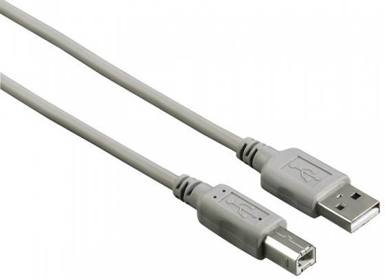 Кабель USB 2.0 AM-BM 5м Hama H-29195 серый кабель lightning 1 5м hama круглый h 173640