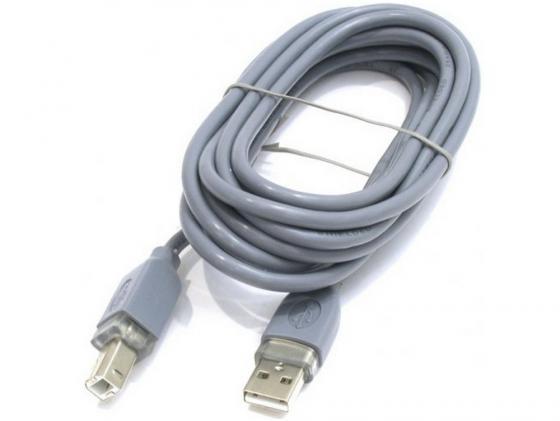 Кабель USB 2.0 AM-BM 5м Hama H-45023 серый кабель hama h 173672 00173672 micro usb b m usb a m 0 6м черный