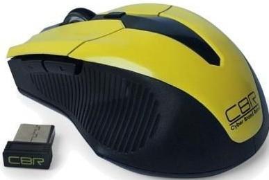 Мышь беспроводная CBR M-547 жёлтый USB мышь беспроводная cbr cm 547 серый usb