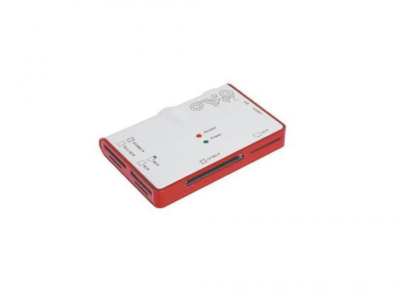 Картридер внешний Konoos UK-12 MiniSD/SD/MMC/SDHC/MS/MicroSD/M2/XD/CF/MD 2xUSB картридер внешний transcend ts rdp8k cf mmc sd sdhc microsdhc msduo msmicro черный