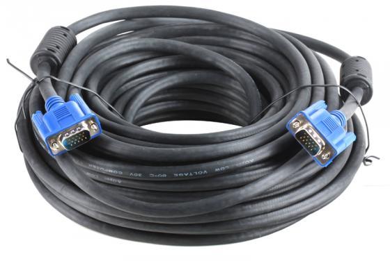 Кабель VGA 20м AOpen 2 фильтра ACG341AD-20M кабель vga aopen acg341ad 15m acg341ad 15m