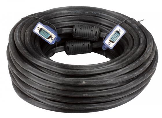 Кабель для монитора VGA 20м VCOM 2 фильтра VVG6448-20M