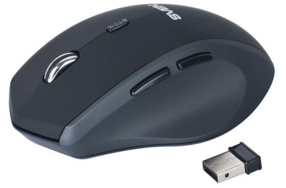 где купить Мышь беспроводная Sven RX-525 Silent чёрный серый USB дешево