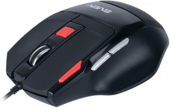 Мышь проводная Sven GX-970 Gaming чёрный USB su gx 5s r