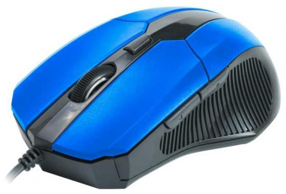все цены на Мышь проводная CBR CM-301 синий чёрный USB