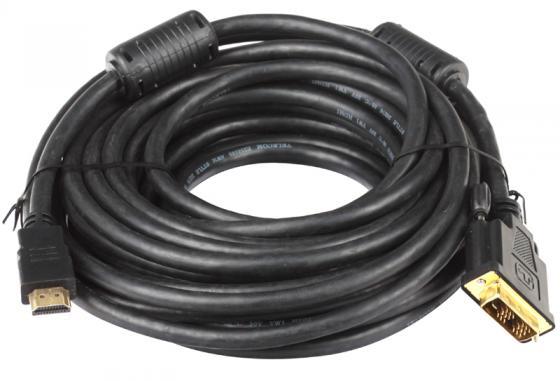 Кабель HDMI-DVI 10м Telecom 2 фильтра с позолоченными контактами CG480F /ТHD6095-10М мр 36 2 матрешка 10м ярослава