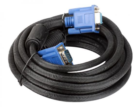 Кабель удлинитель VGA 5.0м VCOM 2 фильтра VVG6460-5M