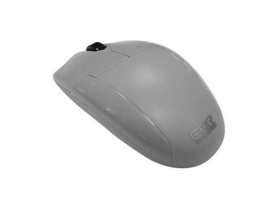 Мышь CBR CM-302 серый бесшумное нажатие USB мышь cbr cm105 white usb