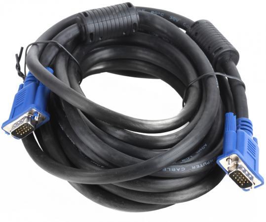 Кабель VGA 5м AOpen 2 фильтра ACG341AD-5M кабель vga aopen acg341ad 15m acg341ad 15m