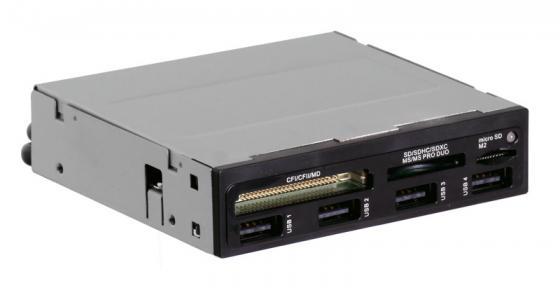 Картридер внутренний Ginzzu GR-137U/B SDXC/SDHC/MMC/microSDXC/SDHC/MS/CFI/CFII/M2 + 4xUSB OEM черный cfi group cfi b8253jdgg