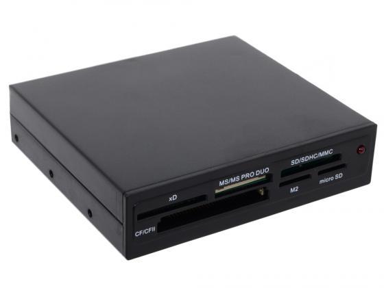 Фото - Картридер внутренний Ginzzu GR-116B SDXC/SDHC/MMC/microSDXC/SDHC/MS/MSDuo/MS PRO Duo/CFI/CFII/M2/xD OEM черный внутренний картридер ginzzu gr 139ucb черный