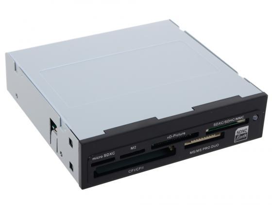 Картридер внутренний Ginzzu GR-126B SDXC/SDHC/MMC/microSDXC/SDHC/MS/MSDuo/MS PRO Duo/CFI/CFII/M2/xD OEM черный карта памяти memorystick duo pro sony ms hx16b t1