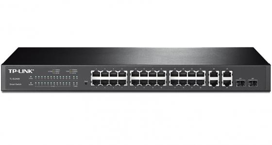 Коммутатор TP-LINK TL-SL2428 управляемый 24 порта 10/100Mbps 4xGbLAN