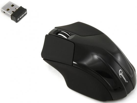 Мышь беспроводная Gembird MUSW-206 чёрный USB мышь gembird musw 213