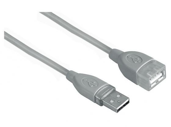 все цены на Кабель удлинительный USB 2.0 AM-AF 3.0м Hama серый H-45040 онлайн