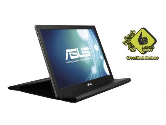 Монитор 16 ASUS MB168B черный TN 1366x768 200 cd/m^2 11 ms USB quying laptop lcd screen for asus x553m x553ma 15 6 inch 1366x768 40pin tn top and bottom brackets