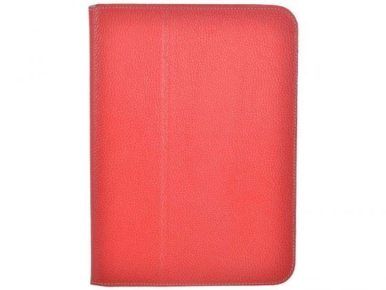 Чехол Jet.A SC10-26 для Samsung Galaxy Tab 4 10 натуральная кожа красный