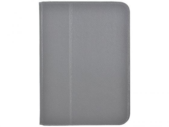 Чехол Jet.A SC10-26 для Samsung Galaxy Tab 3 10.1 натуральная кожа серый