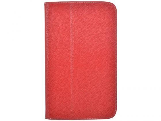 Чехол Jet.A SC8-26 для Samsung Galaxy Tab 3 8 натуральная кожа красный