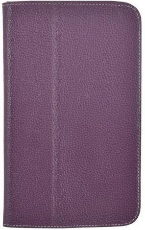 Чехол Jet.A SC8-26 для Samsung Galaxy Tab 3 8 натуральная кожа фиолетовый