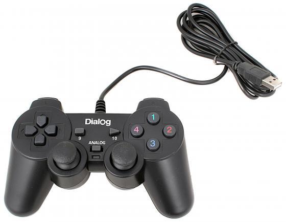 лучшая цена Геймпад Dialog Action GP-A11 вибрация черный USB