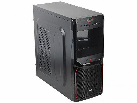 Корпус ATX Aerocool V3X Advance Devil Red Edition Без БП чёрный EN57400 aerocool v3x advance evil blue edition black