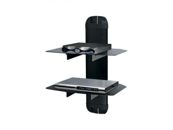 Кронштейн для DVD плееров Kromax X-DUO черный стекло максимальная нагрузка 10 кг джой dvd