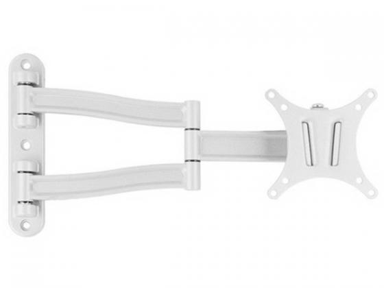 Кронштейн VLK LCD-1 Белый для LCD/LED ТВ 15-26 настенный 4 степени свободы от стены 60-370 мм VESA 100x100 max 15 кг оверлок kromax vlk napoli 2900