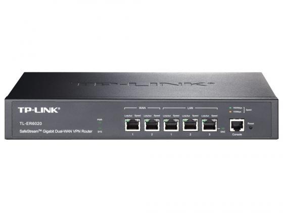 Маршрутизатор TP-LINK TL-ER6020 2xWAN 1xLAN/DMZ 2xLAN firewall маршрутизатор tp link tl er6020 5 port gigabit multi wan vpn router