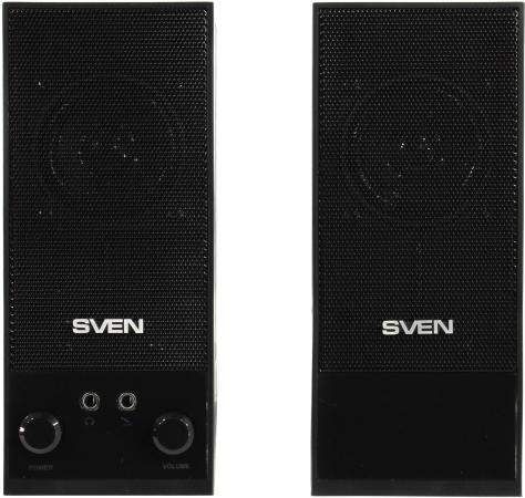 Колонки Sven SPS-604 2x2 Вт выход на наушники черный компьютерные колонки sven sps 604