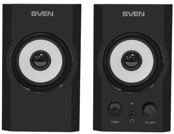 цены на Колонки Sven SPS-605 2x3 Вт дерево черный в интернет-магазинах
