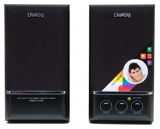 Колонки Dialog Disco AD-05 2x10 Вт черный fx1n 40mr es ul fx1n plc cpu relay output computer interface 8000 steps program capacity 40 i o ports