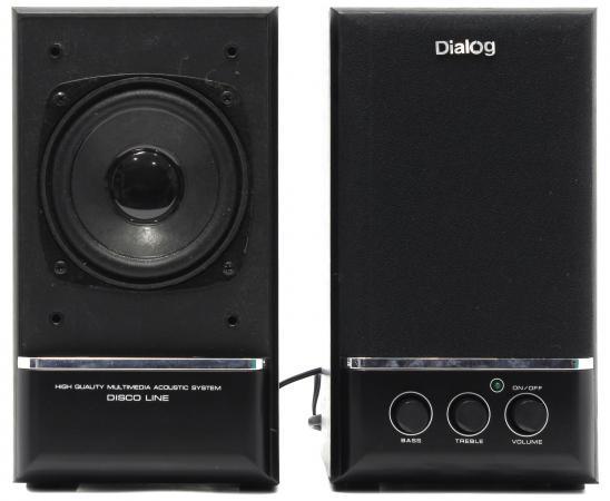 купить Колонки Dialog Disco AD-06 2x12 Вт черный недорого