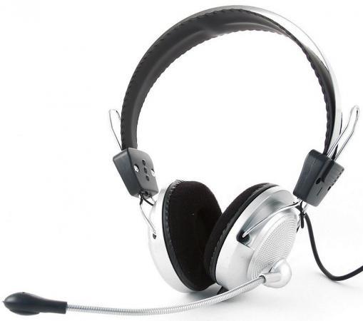 все цены на Гарнитура Gembird MHS-300 стерео серебристо-черный онлайн