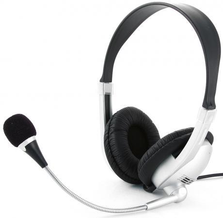 Гарнитура Gembird MHS-615 стерео серебристо-черный цена