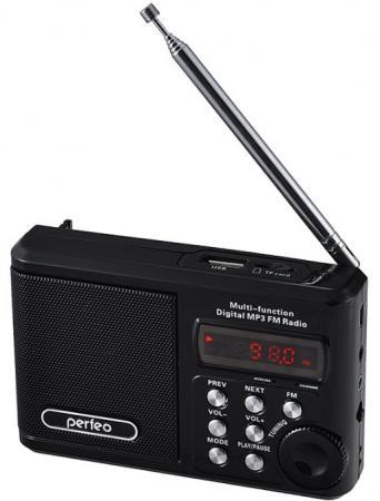 Портативная акустика Perfeo Sound Ranger 2 Вт FM MP3 USB microSD BL-5C 1000mAh черный PF-SV922BK портативная колонка perfeo sound ranger red