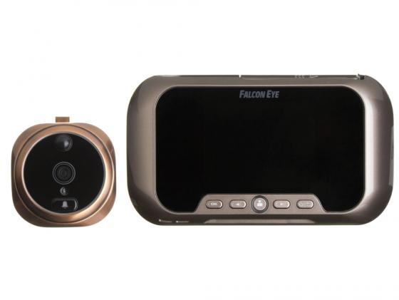 Видеоглазок Falcon Eye FE-VE02 дисплей автономный звонок/запись видео/запись фото/детектор движения/два аккумулятора бронзовый