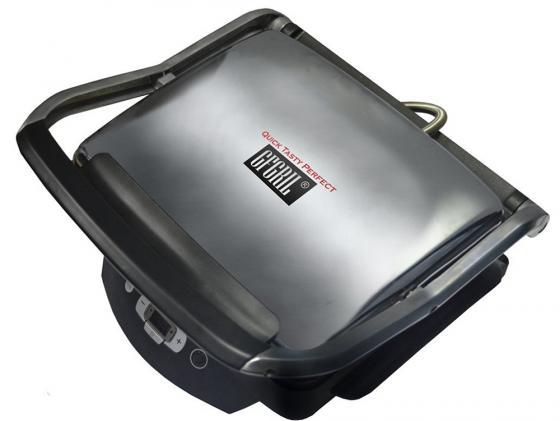 Электрогриль GFGRIL GF-80 чёрный серебристый электрогриль gfgril gf 130 plate free цвет серебристый черный