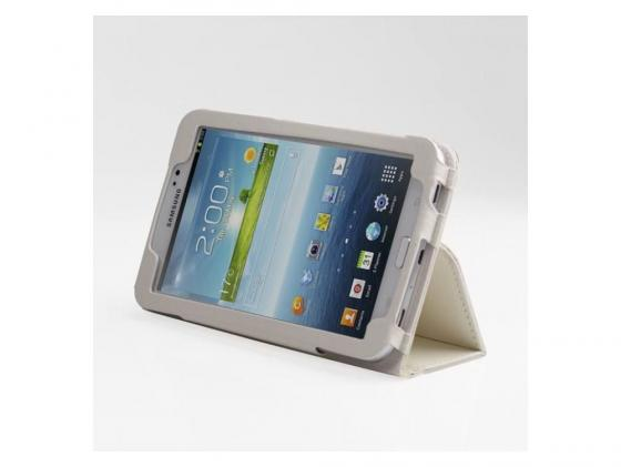 Чехол IT BAGGAGE для планшета Samsung Galaxy Tab 3 7 искусственная кожа белый ITSSGT7302-0 чехол для планшета samsung flat screen protector p7500 p7510 p5100 p5110 n8000 n8010