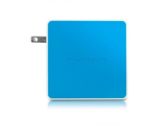 Портативное зарядное устройство Powerocks Tetris 2xUSB 3000mAh голубый стоимость