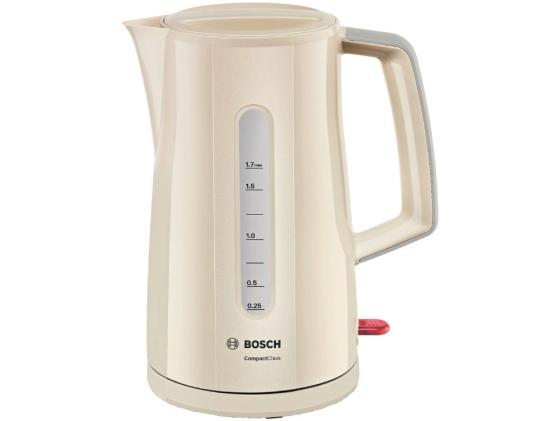 Чайник Bosch TWK 3A017 2400Вт 1.7л пластик бежевый электрочайник bosch twk 3a013