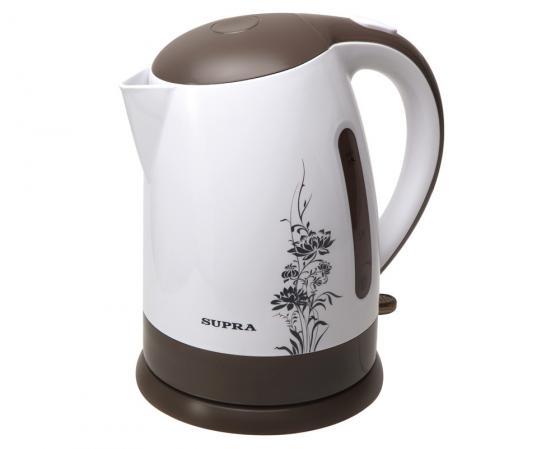 цена на Чайник Supra KES-1807 2200 Вт 1.8 л пластик белый