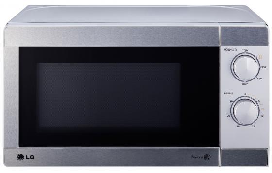 Микроволновая печь LG LG MS-2022U 700 Вт серебристый lg lg ms 2342bs серебристый 800вт 23л